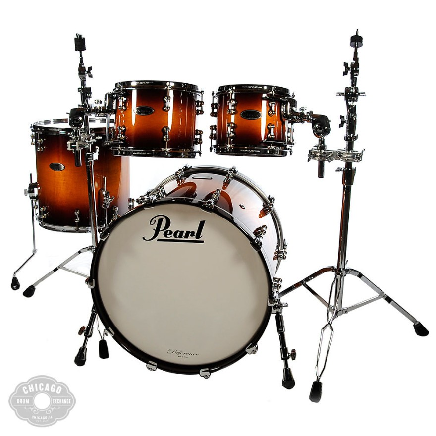 Pearl Reference Pure 10/12/16/22 4pc Kit Vintage Tobacco Burst