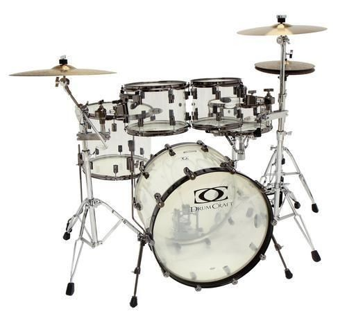 Drum Craft Series 8 Acrylic Kit 10/12/16/22/5.5x14 Snare