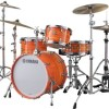 "yamaha club custom 4 piece 20"" bass drum shell pack - swirl orange"