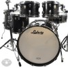 ludwig 10/12/14/16/22 classic maple 5pc kit black galaxy sparkle