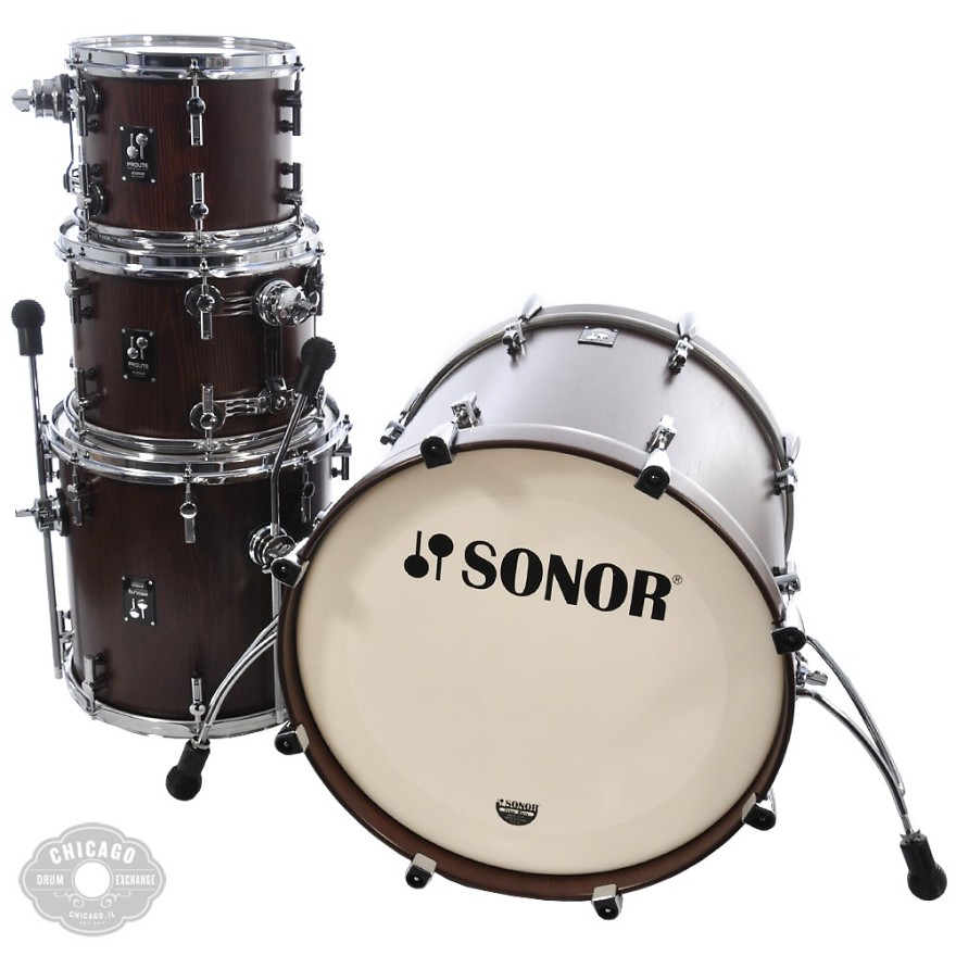 Sonor ProLite Studio 1 Drum Kit Nussbaum Red 10/12/14/20