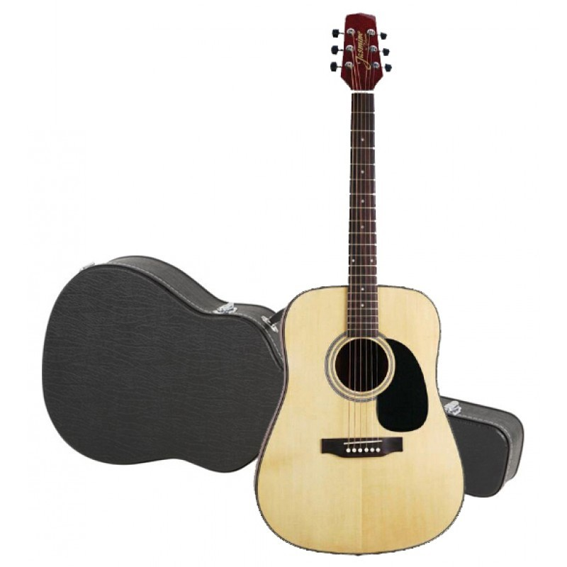 Jasmine By Takamine S33 Dreadnought Acoustic Guitar With Hardshell