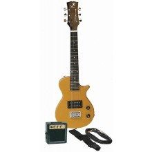 J. Reynolds Childrens/Kids Mini-Electric Guitar Prelude Package - Groovy Gold