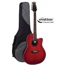 Ovation Pro Balladeer Standard 1861AX Super-Shallow Acoustic-Electric - Red