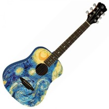 "Luna Safari ""Starry Night"" Van Gogh Acoustic Guitar"