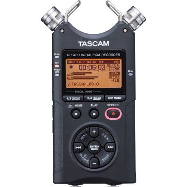 TascamDR-40-RB Portable Digital Recorder, 2GB SD card included