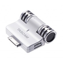 Tascam IM2W Stereo Condenser Microphone Mic for Apple iPod, iPad and iPhone