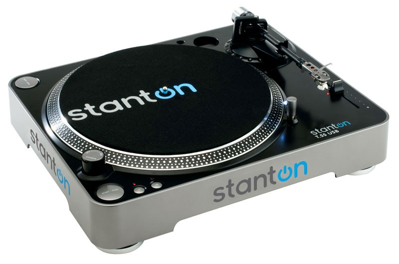 Stanton T55USB DJ/Home Turntable With USB Free 500.v3 Cartridge Included
