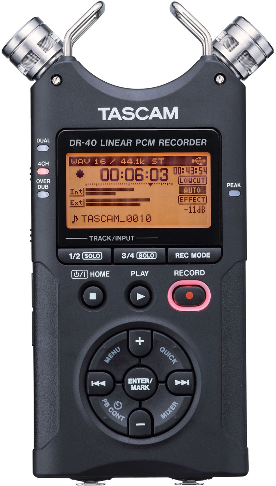 Tascam DR40 Portable Digital Recorder, 2GB SD card included