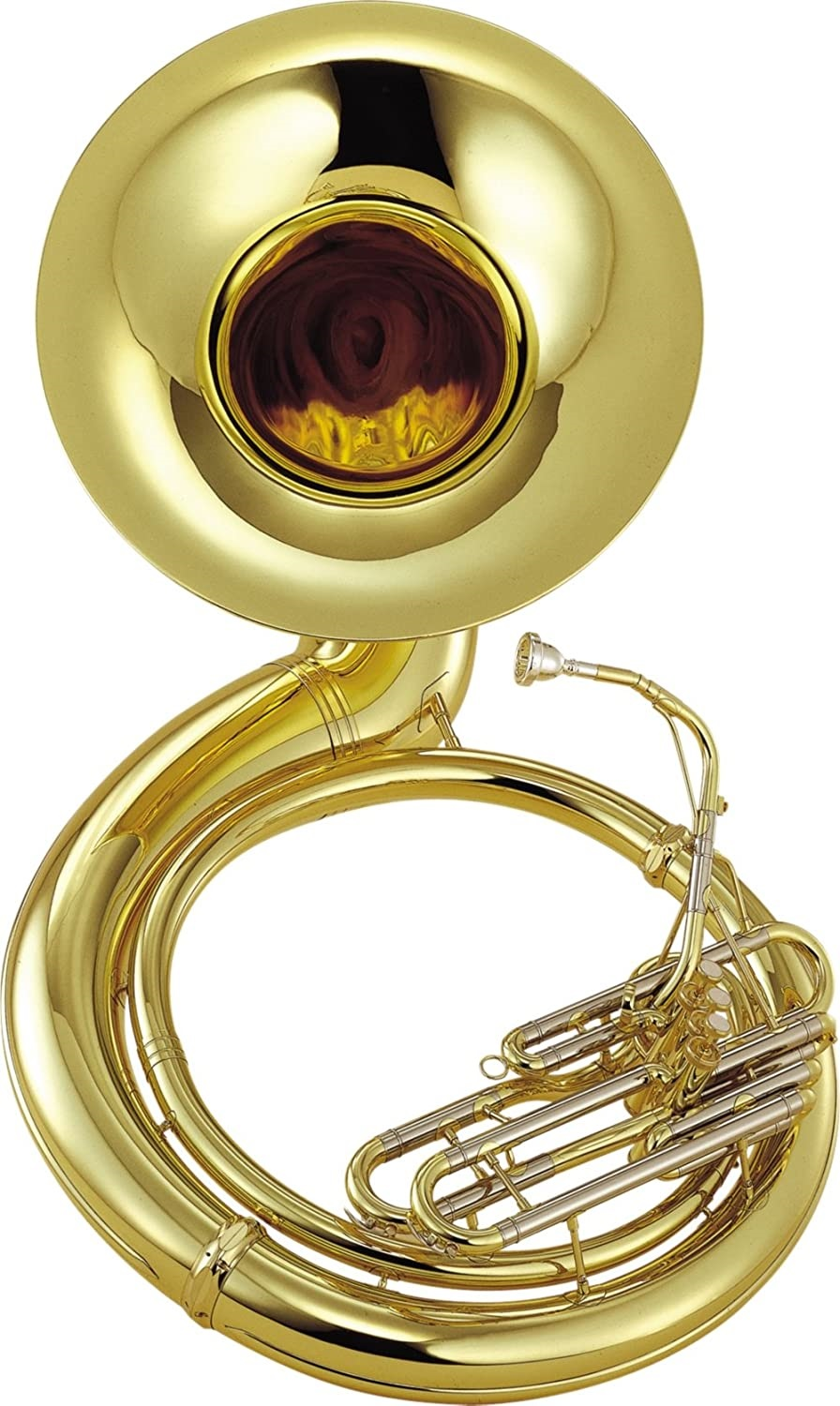 Yamaha YSH 411WC Series Brass BBb Lacquer Sousaphone with Hard Case