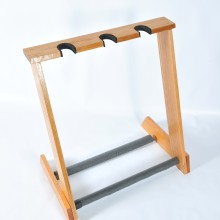 ALLWOOD STANDS 3 SPACE RED OAK GUITAR STAND